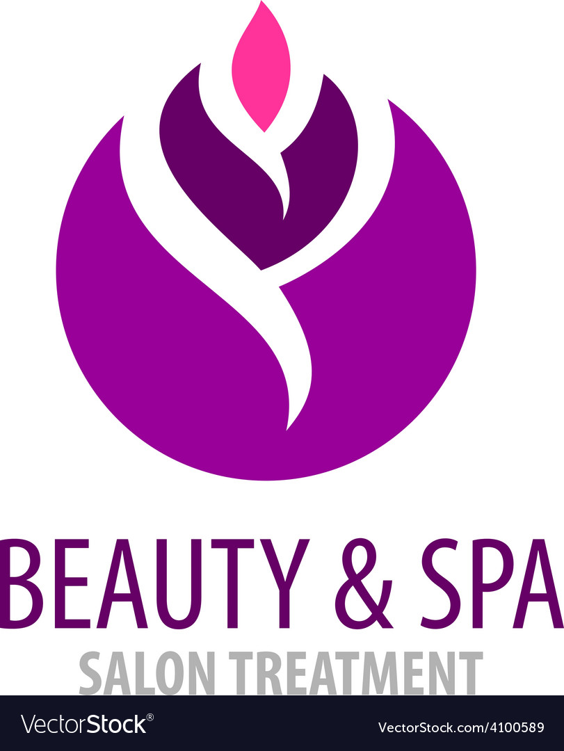 Spa treatment salon logo template vector