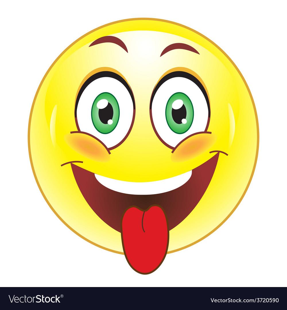 Smiley showing tongue vector