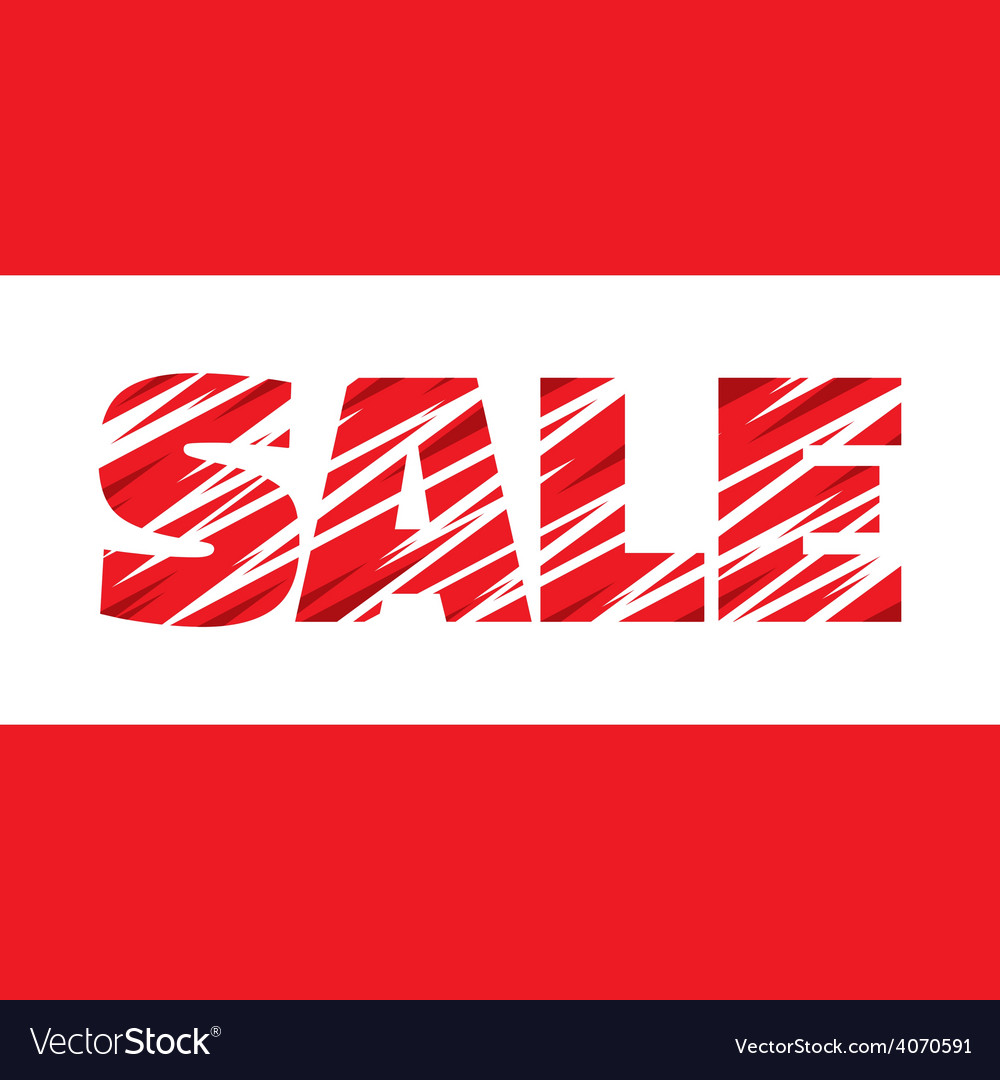 Sale - concept word - banner vector