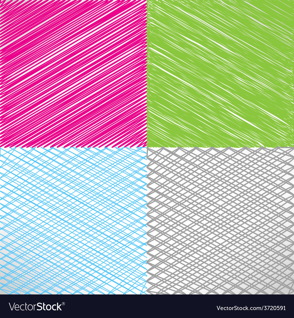 Set of pencil and marker hatching backgrounds vector