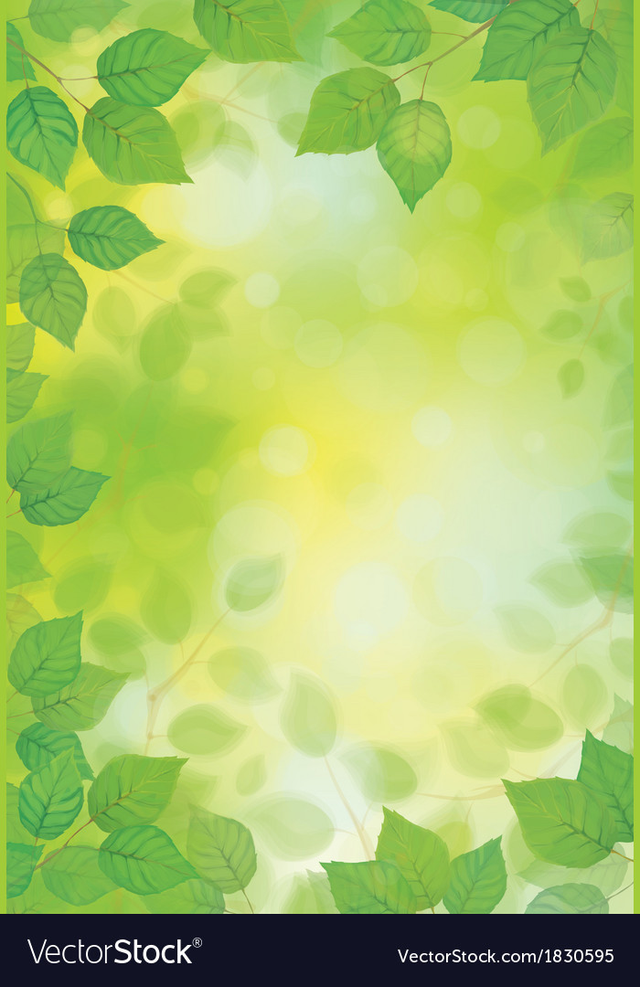 Green spring background vector