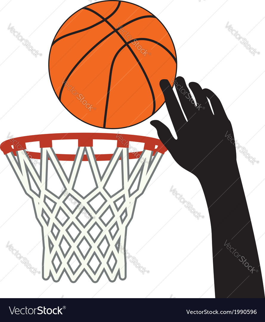 Lucky shot of basketball vector