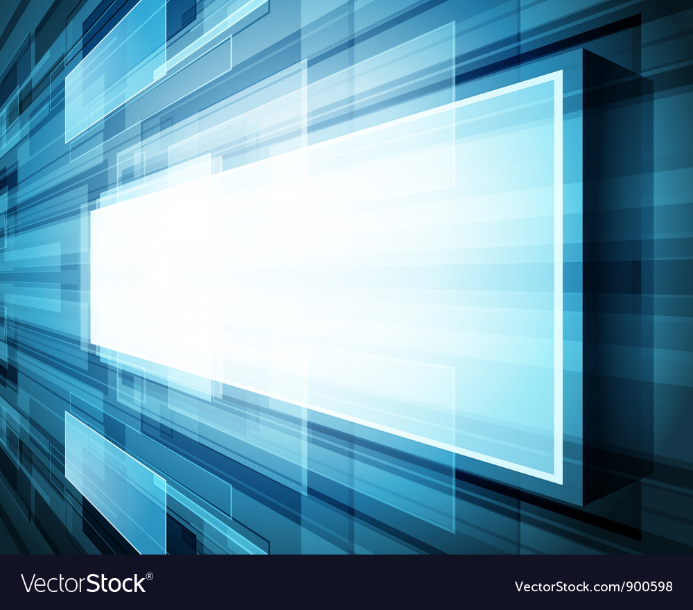 Abstract virtual space with screen vector