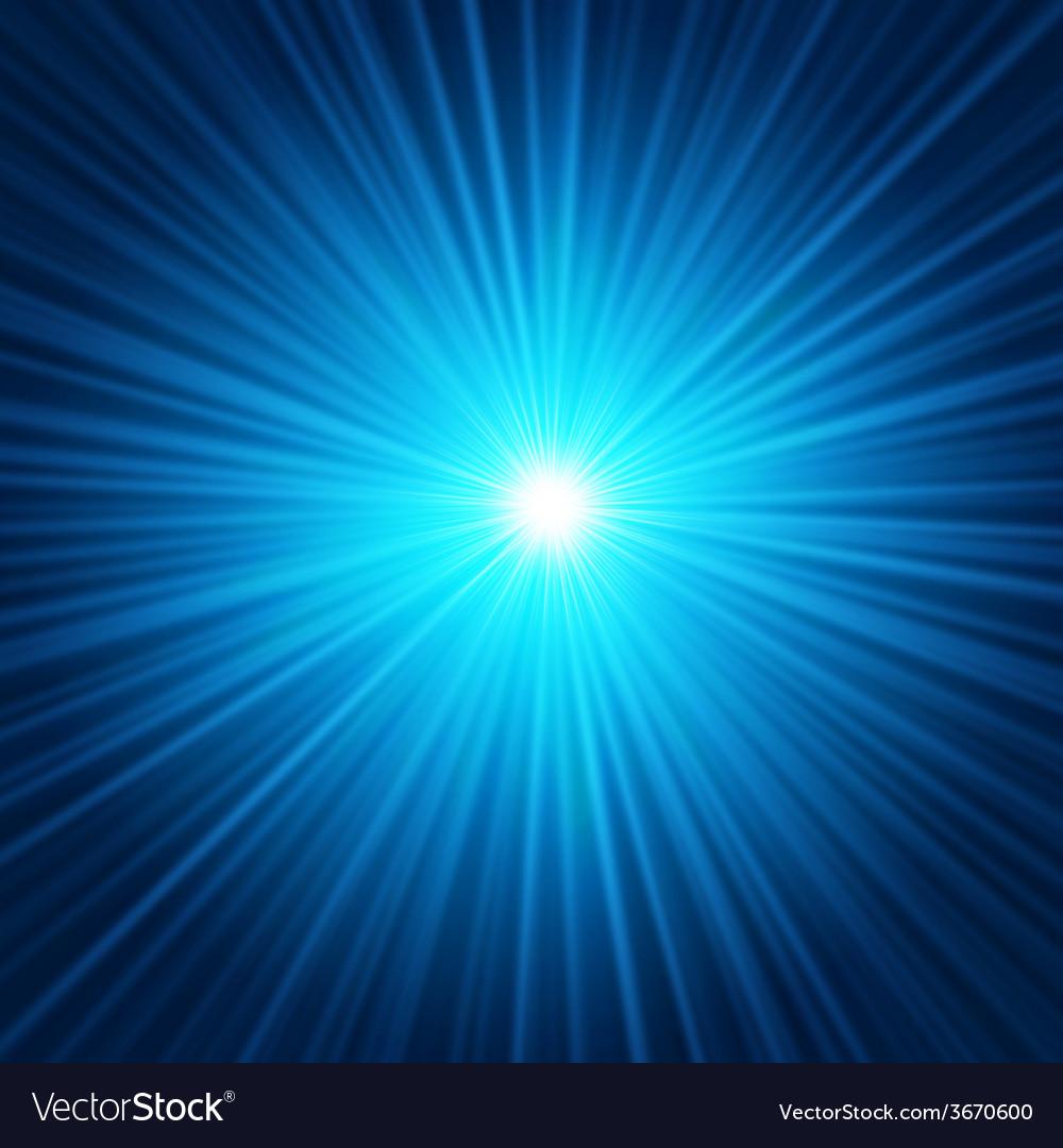Blue starburst vector