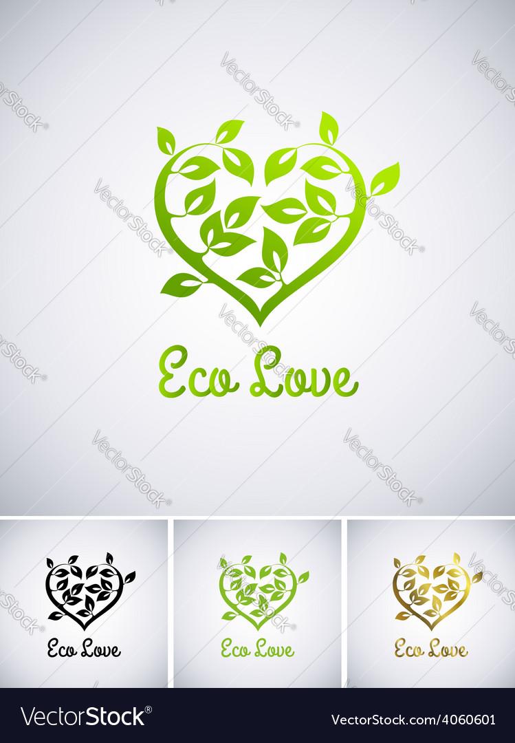Eco love vector