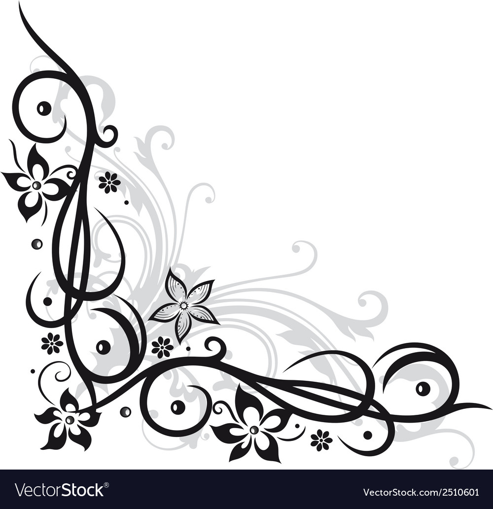 Flower decoration vector