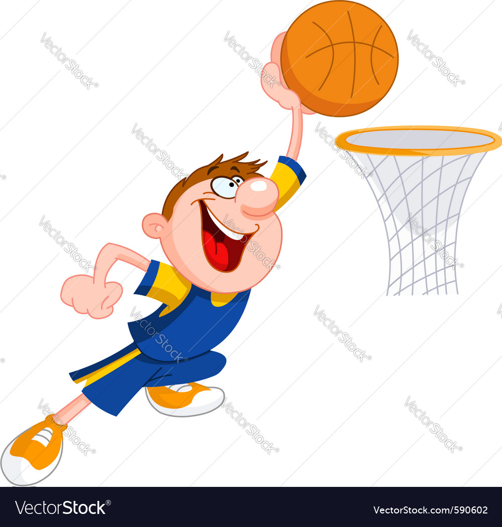 Basketball kid vector