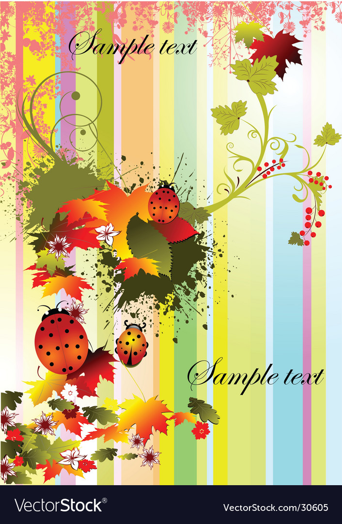 Autumn stripped background vector