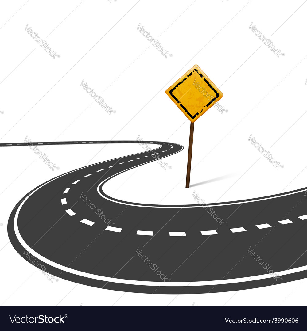 Highway and road sign isolated on white background vector