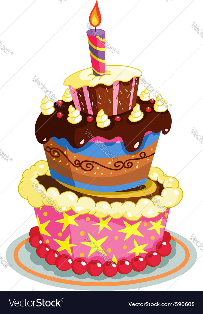 Birthday cake vector