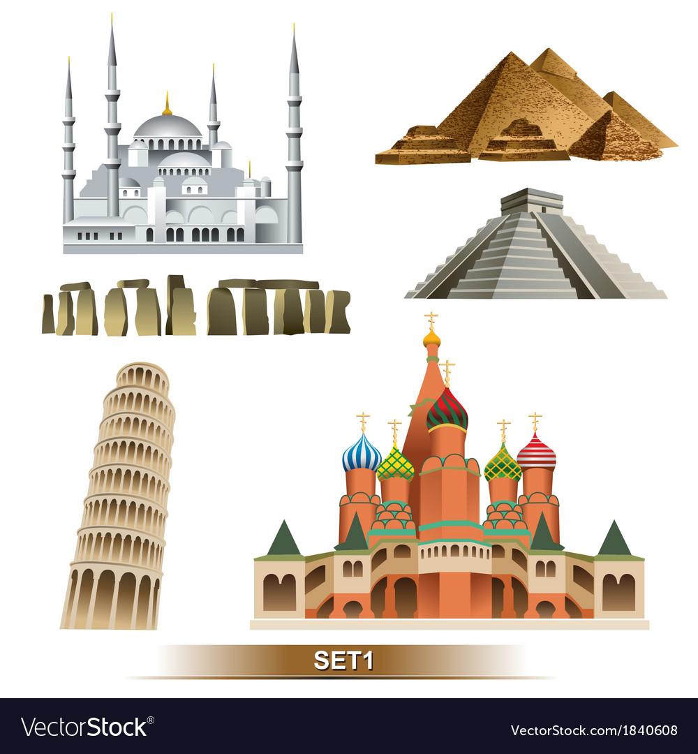 World landmark vector