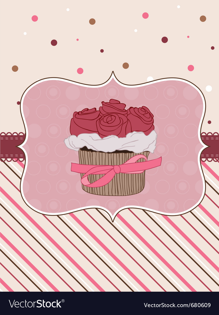Beautiful cupcake background vector