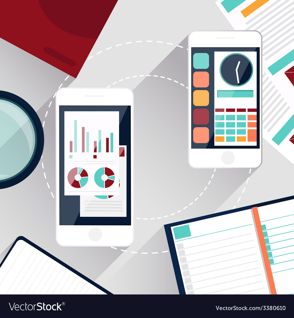 Concept of mobile services vector