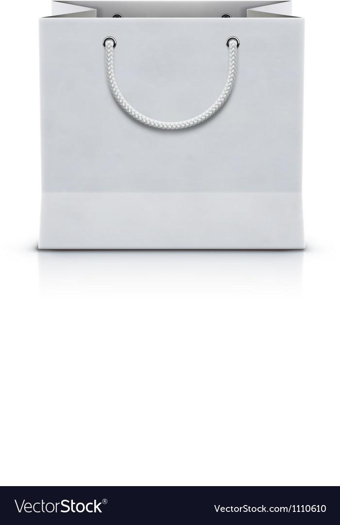 Shopping paper bag vector