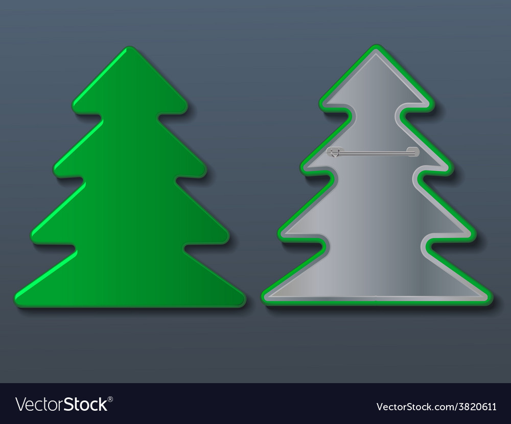 Christmas tree badge vector