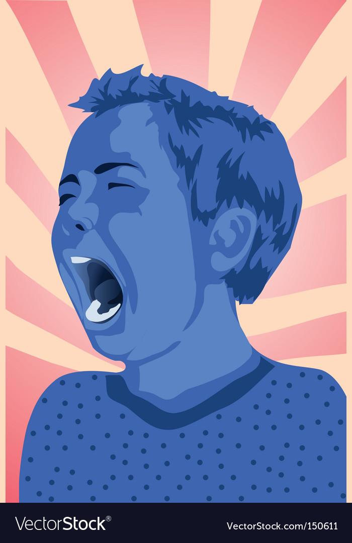 Kid cry vector