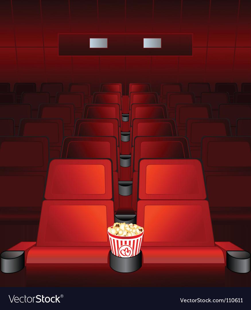 Love seat at movies vector
