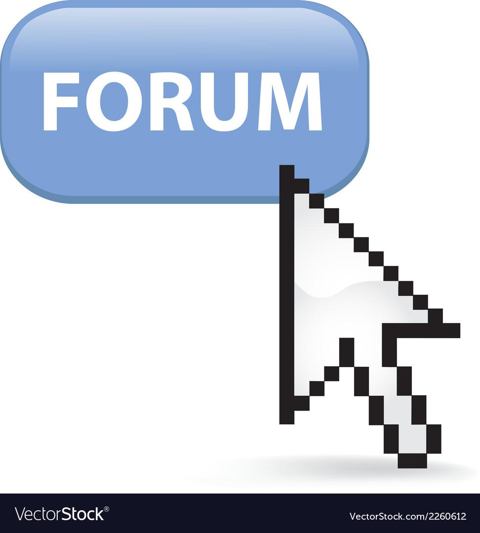 Forum button click vector