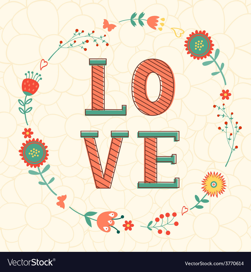 Cute valentines day card vector