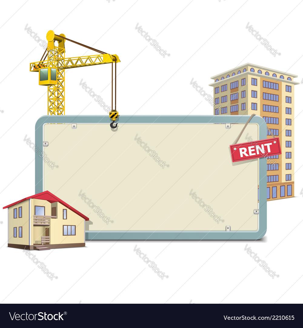 Homebuilding board vector