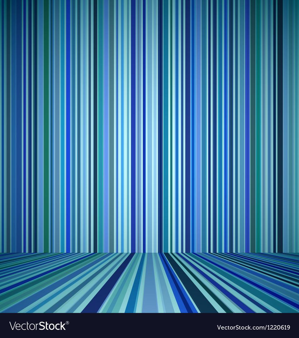 Blue empty room vector