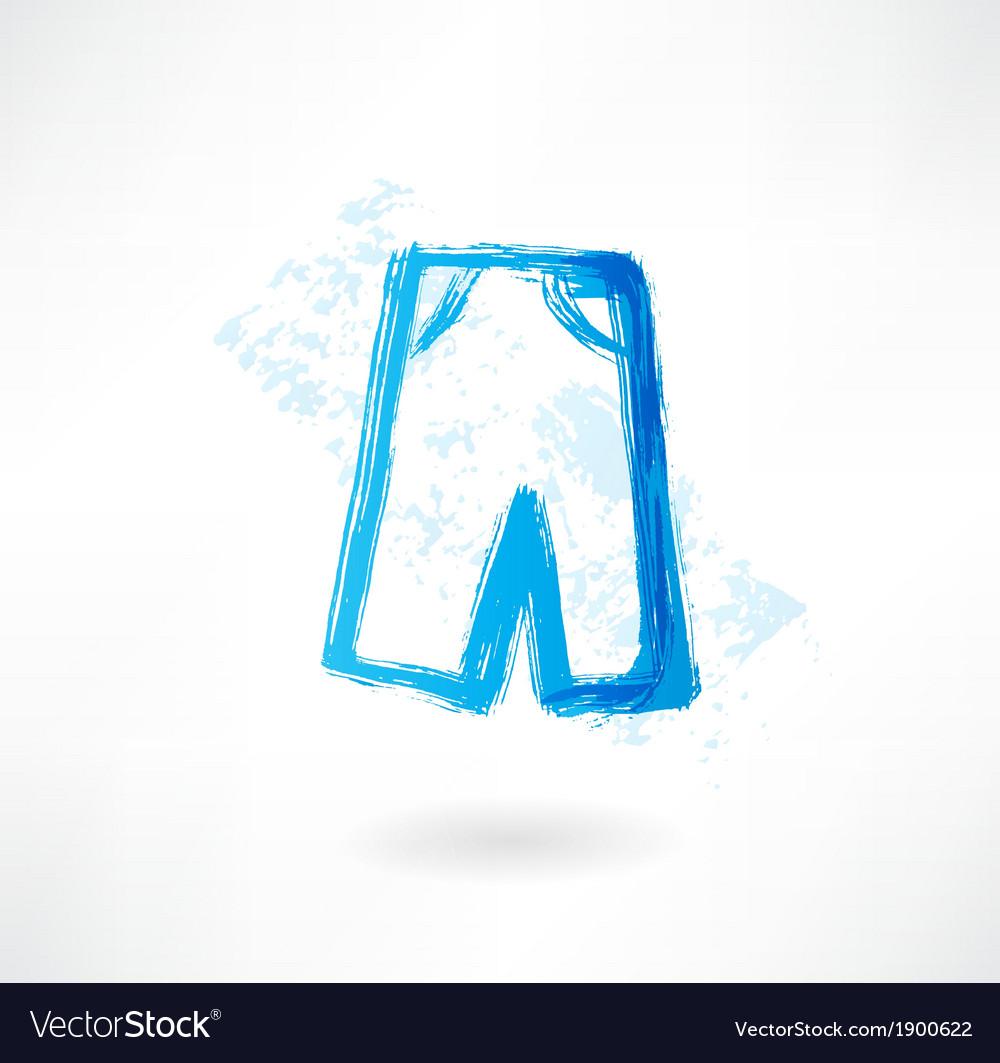 Shorts wear grunge icon vector