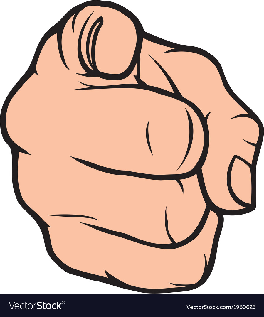 Hand pointing finger pointing vector