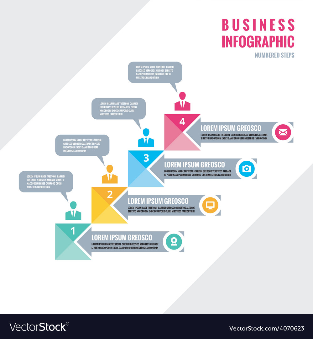 Infographic business concept - numbered steps vector