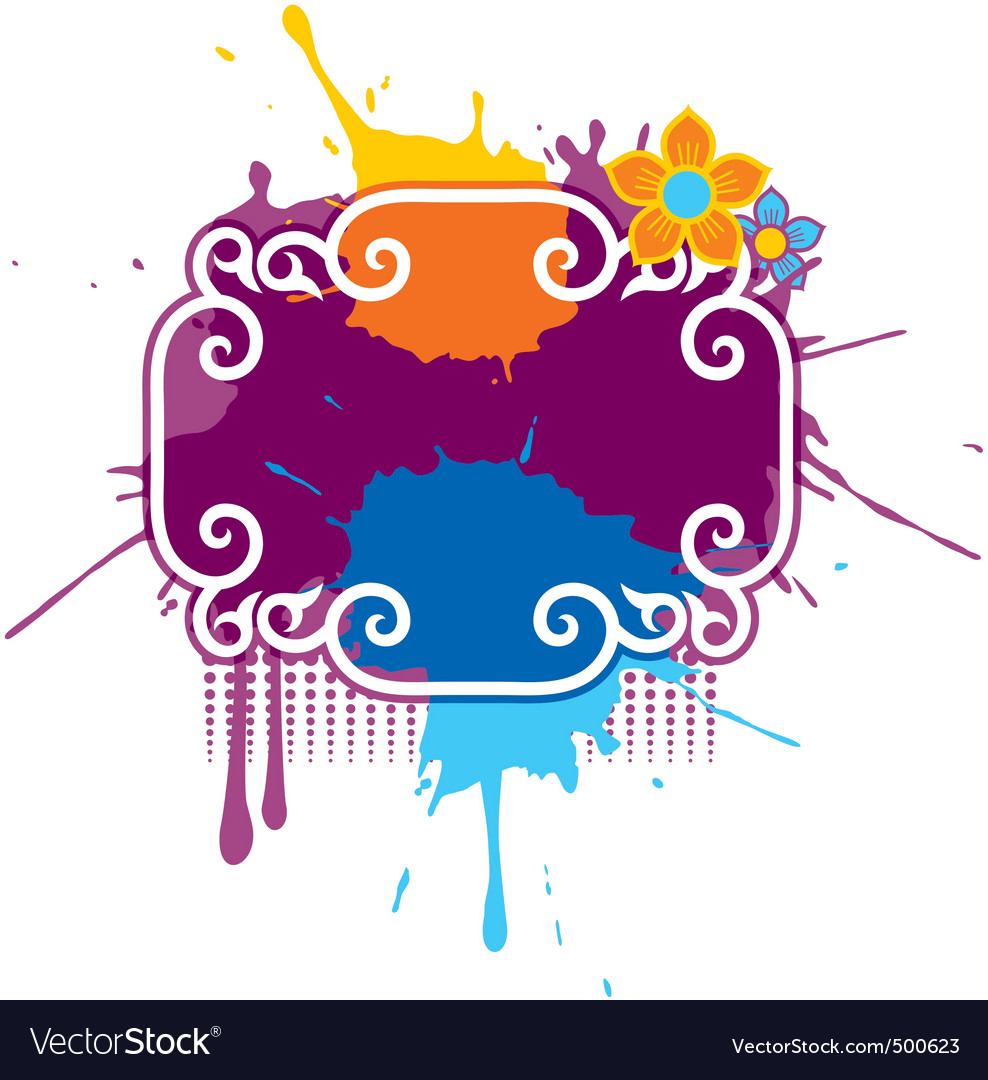 Paint splash grunge vector