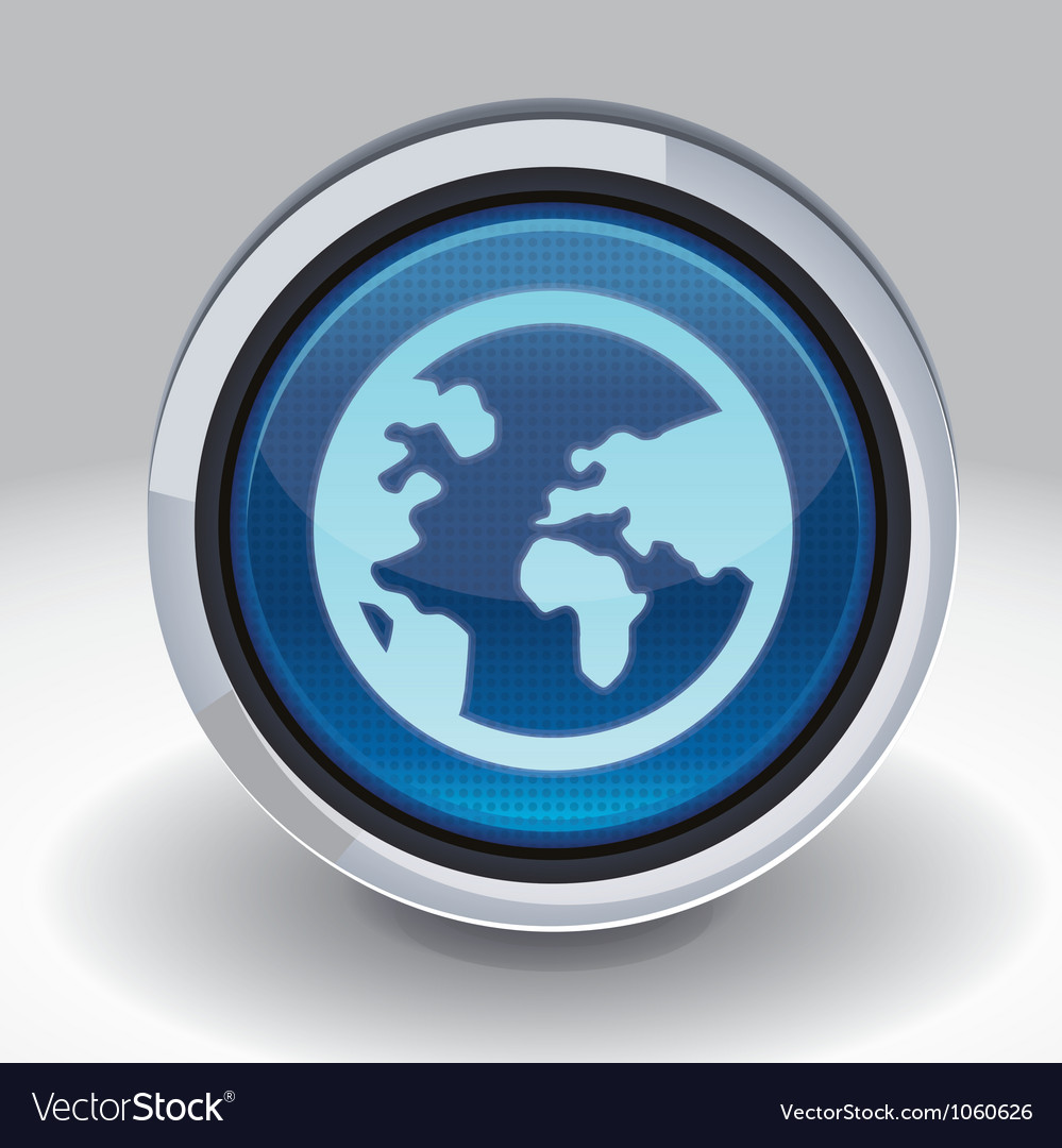 Button with internet icon vector