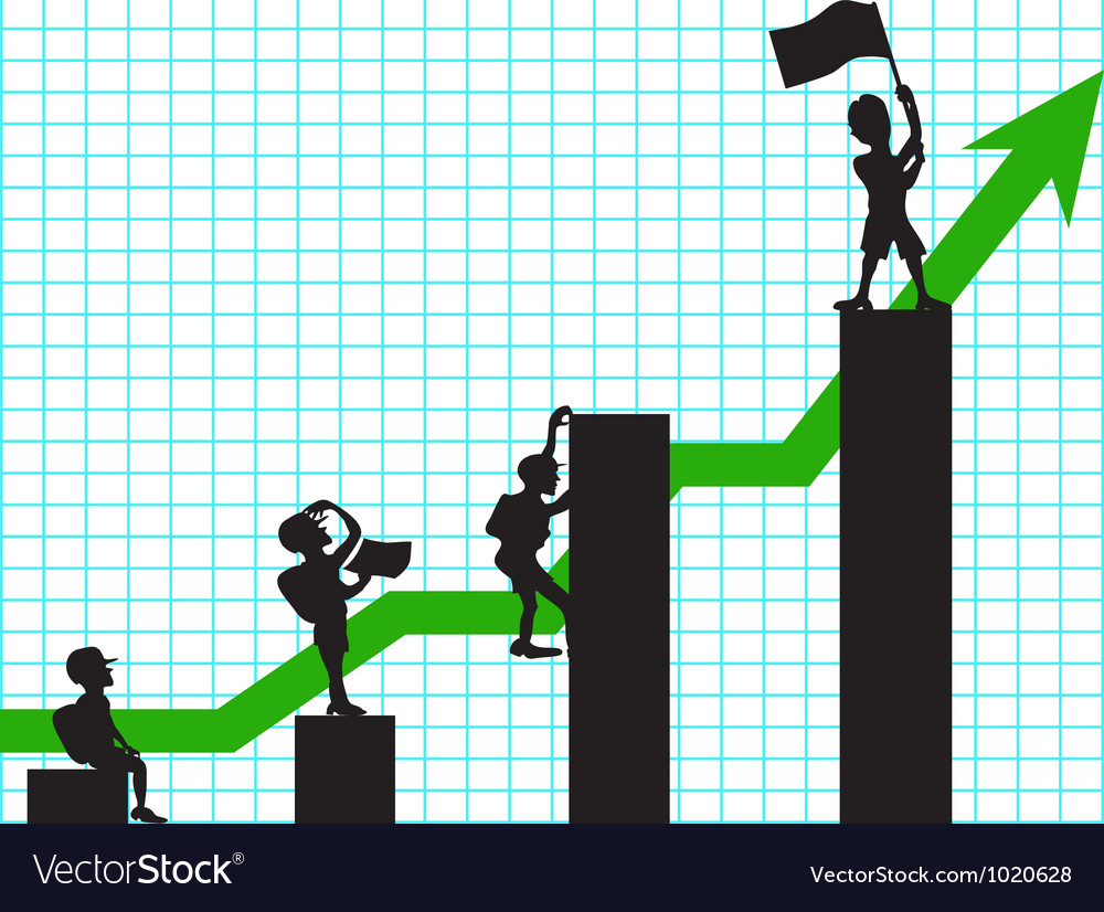 Climbing in business vector