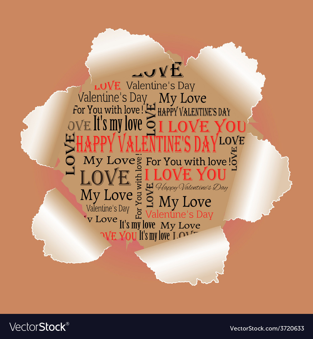 Background to the day of lovers vector