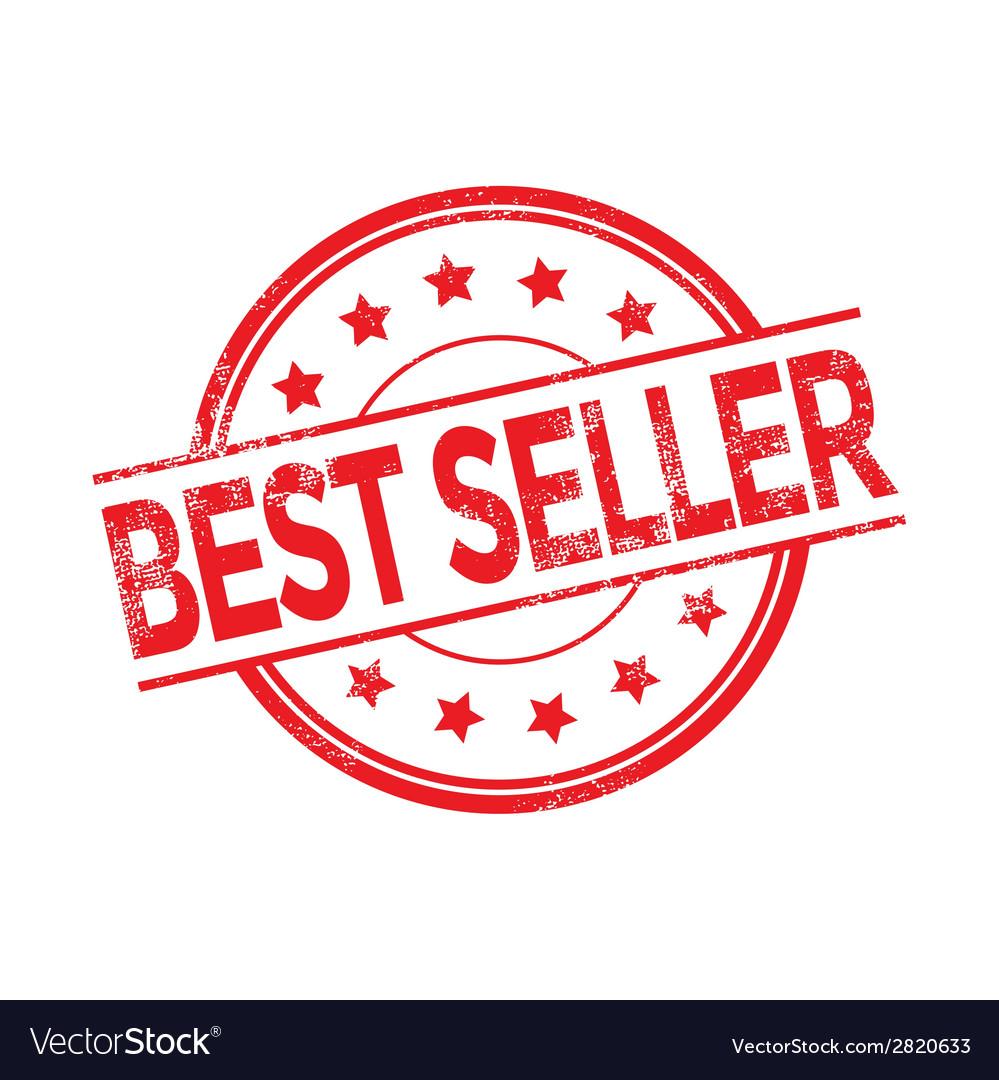 Best seller rubber stamp red color vector