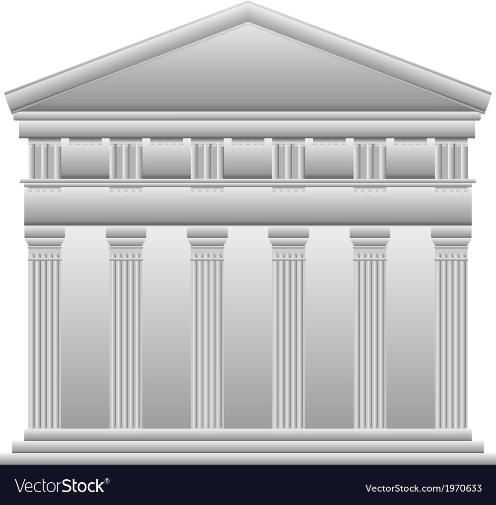 Doric greek temple vector
