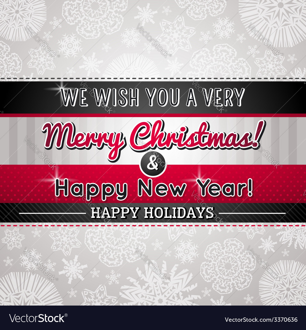 Grey christmas background vector