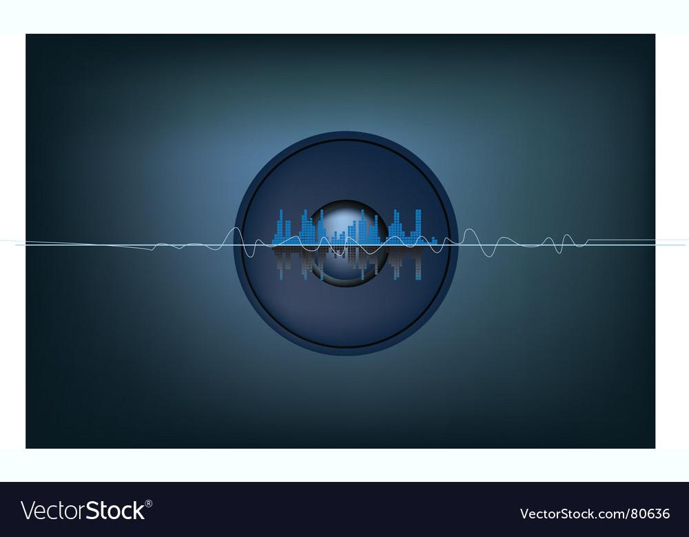 Sound background vector