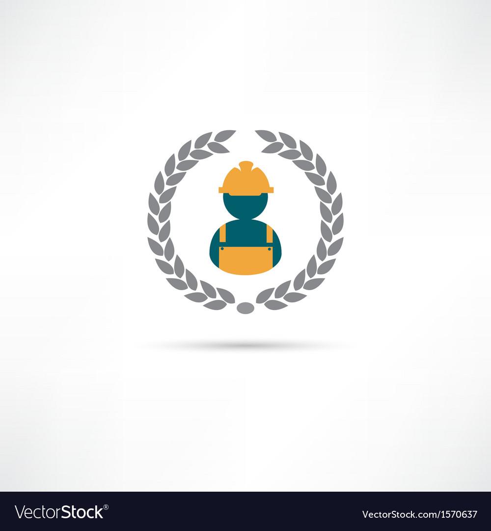 Builder icon vector