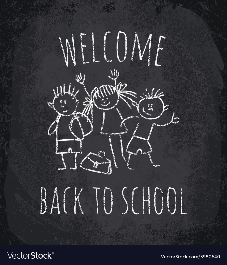 Welcome school sign vector