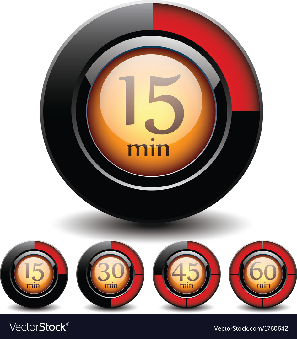 Set of digital buttons vector