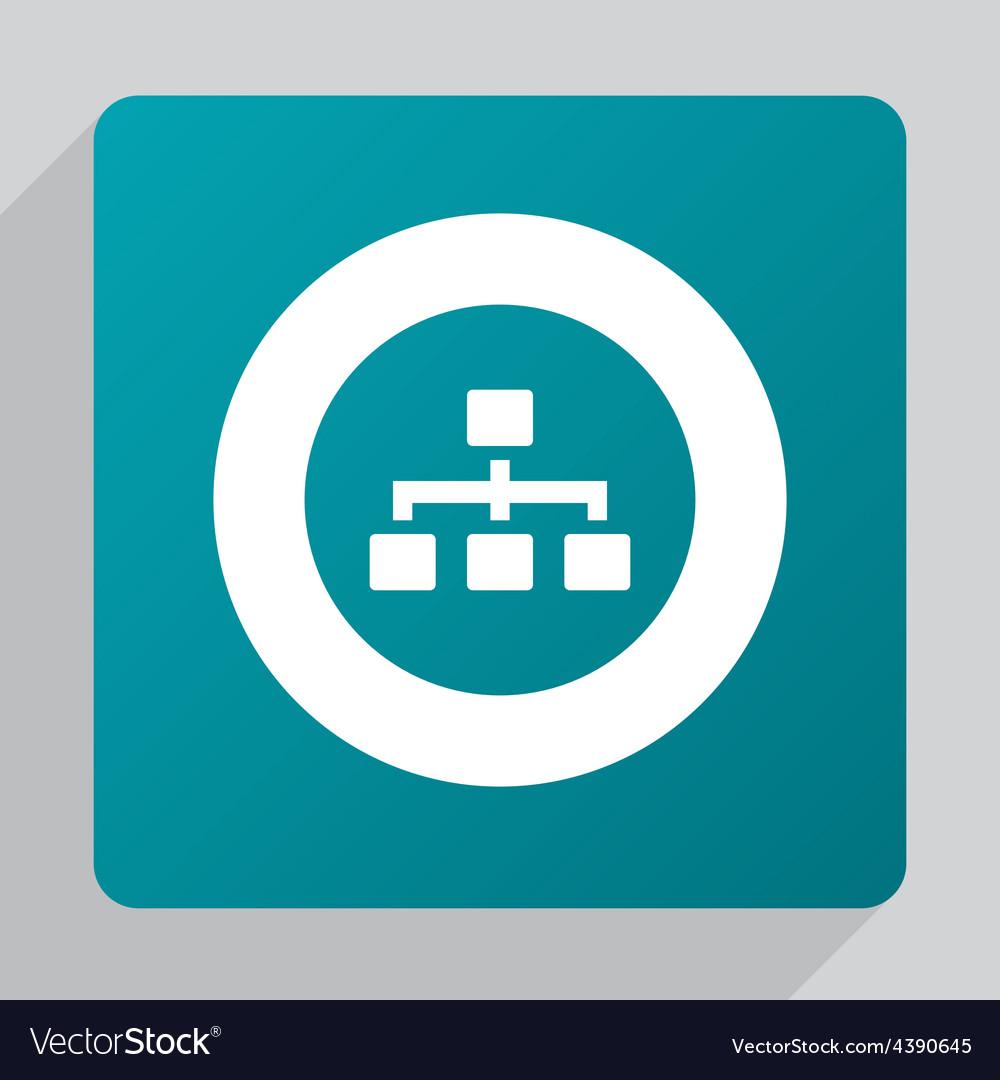 Flat hierarchy icon vector