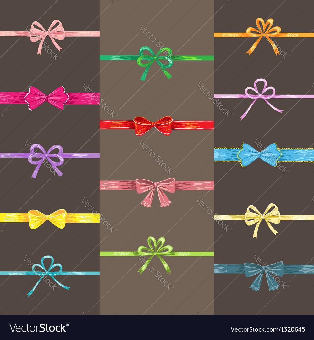 Ribbon set vector