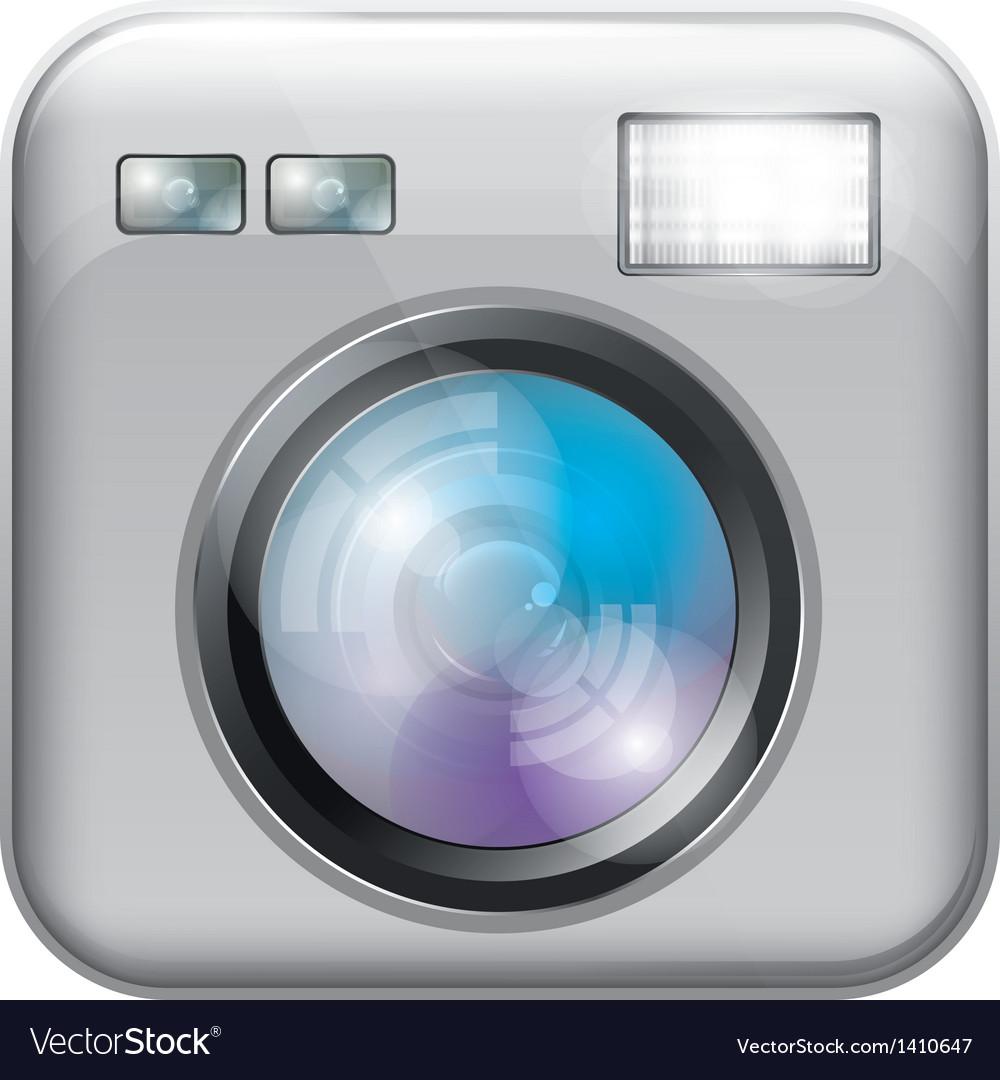 App icon with camera lens vector
