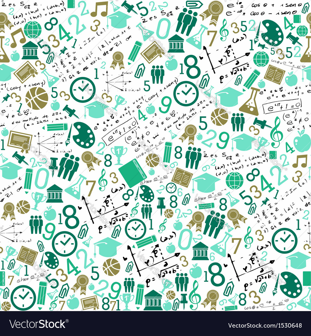 Education icons back to school seamless pattern vector
