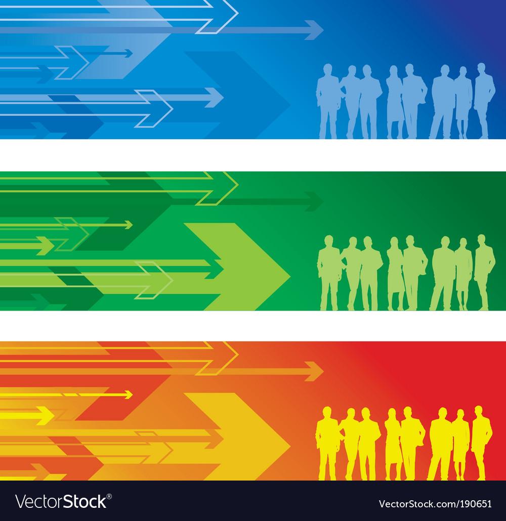 Arrow banner people vector