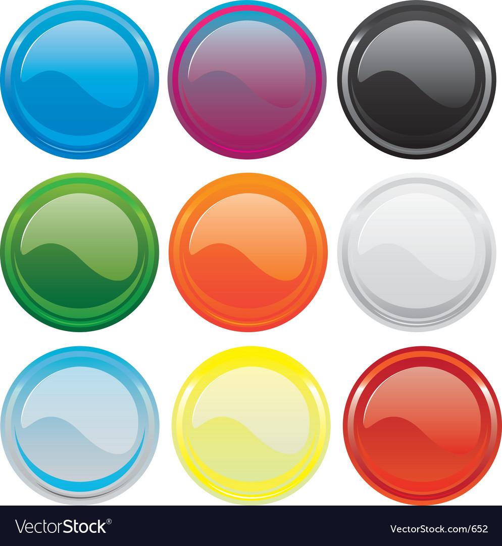 Gloss buttons vector