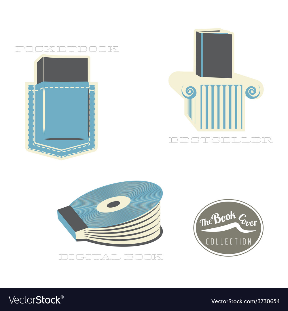 Book cover types vector
