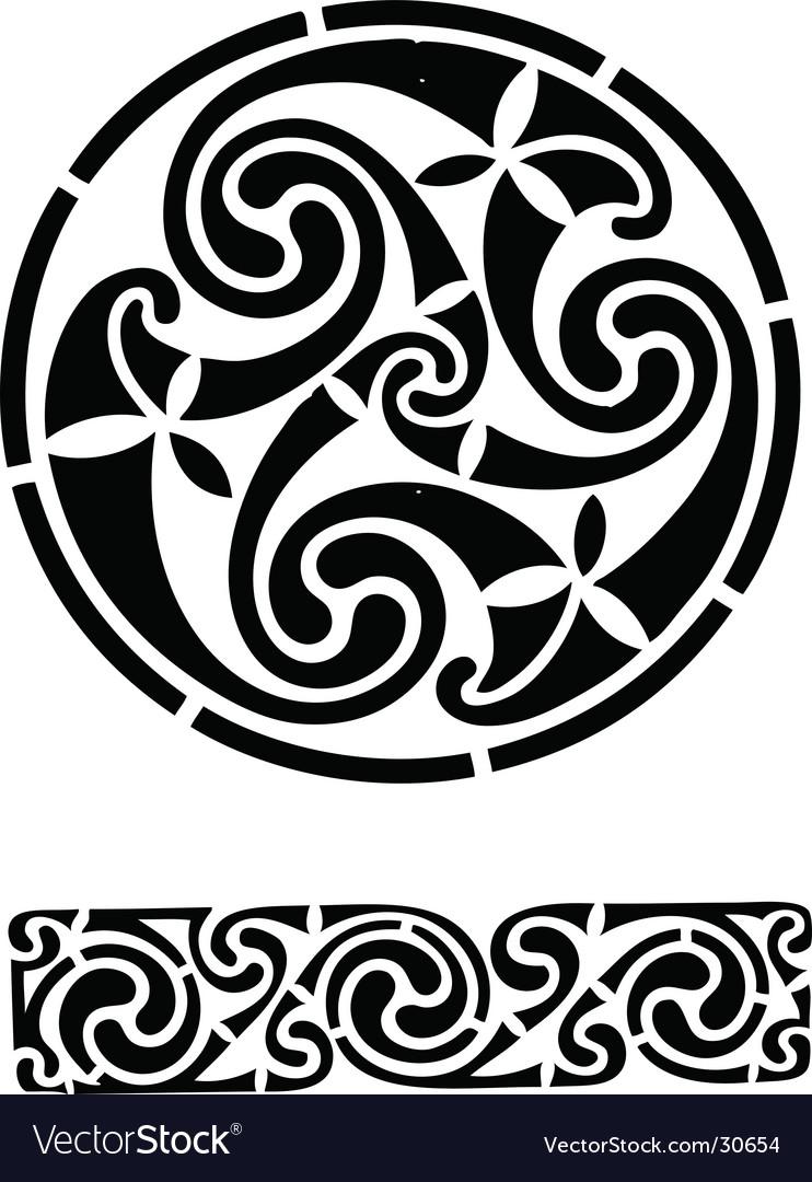 Celtic design works vector