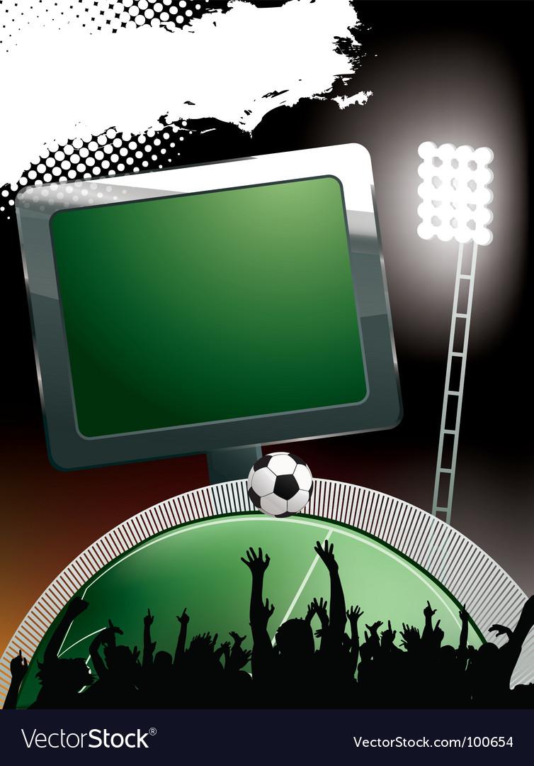 Football stadium banner vector