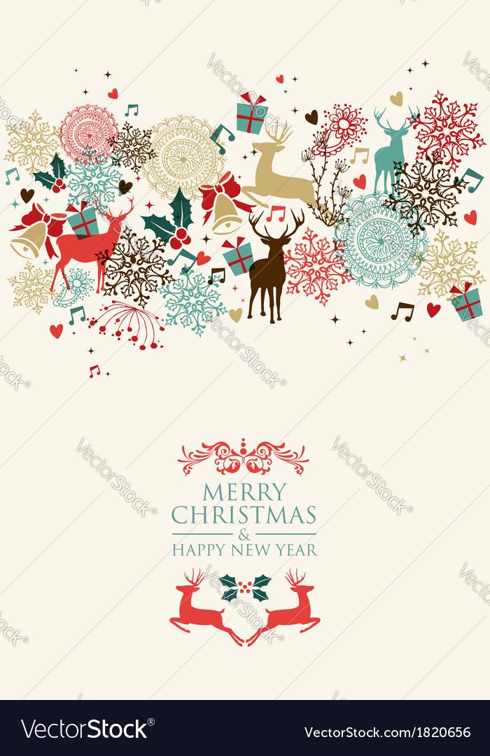 Merry christmas postal card transparency vector