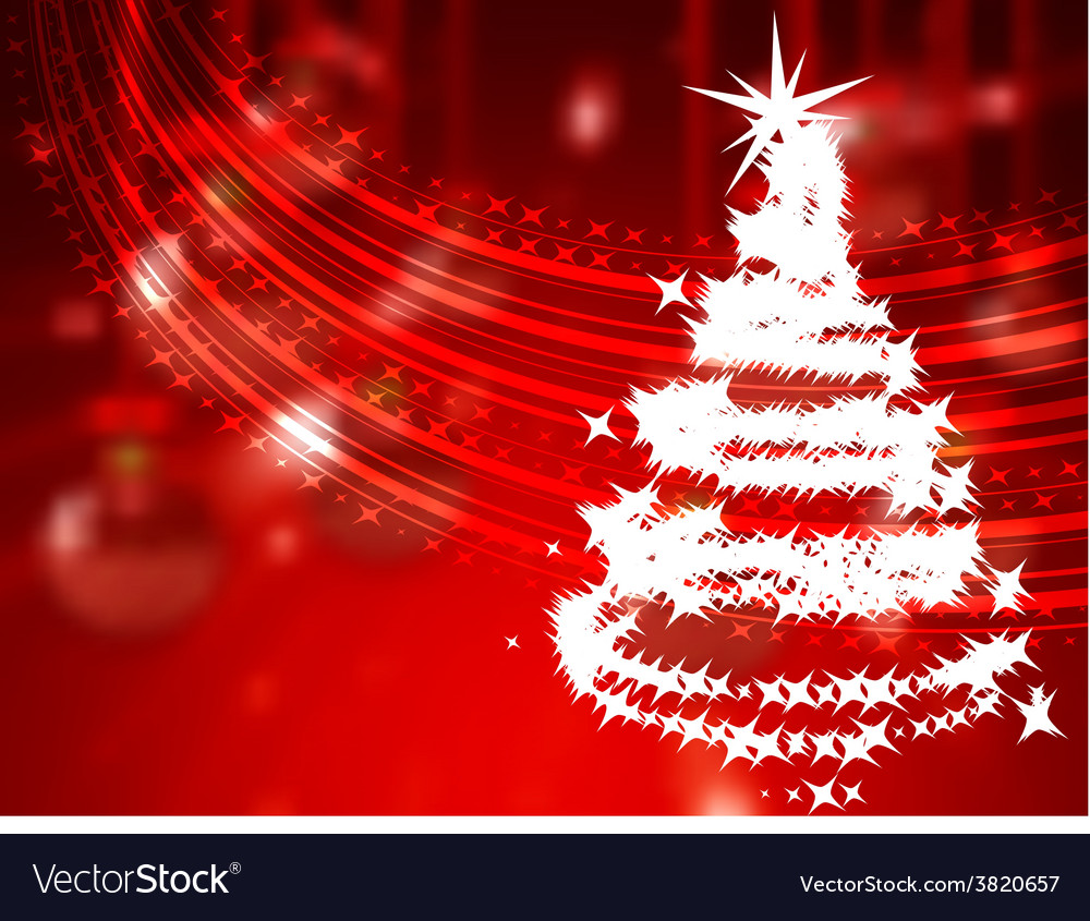 Christmas holiday bright background with ball vector